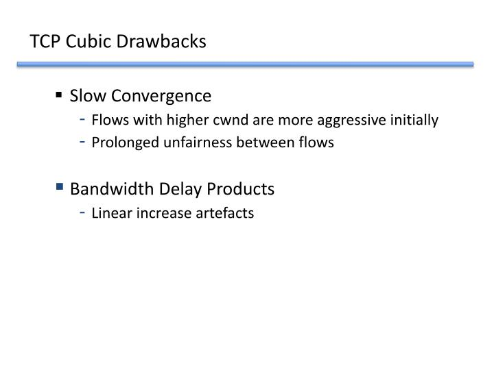 TCP Cubic Drawbacks