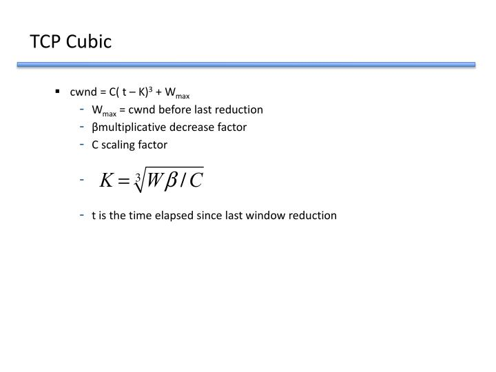 TCP Cubic