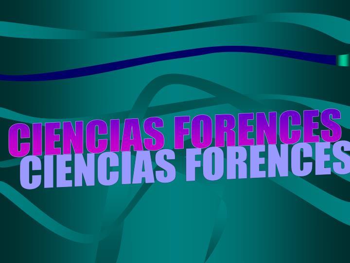 CIENCIAS FORENCES