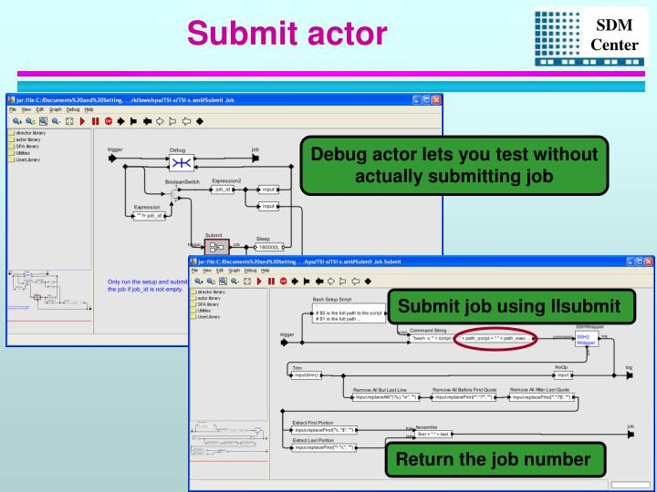 Submit actor