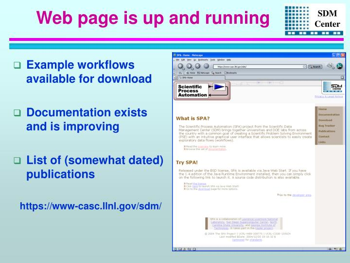 Example workflows available for download