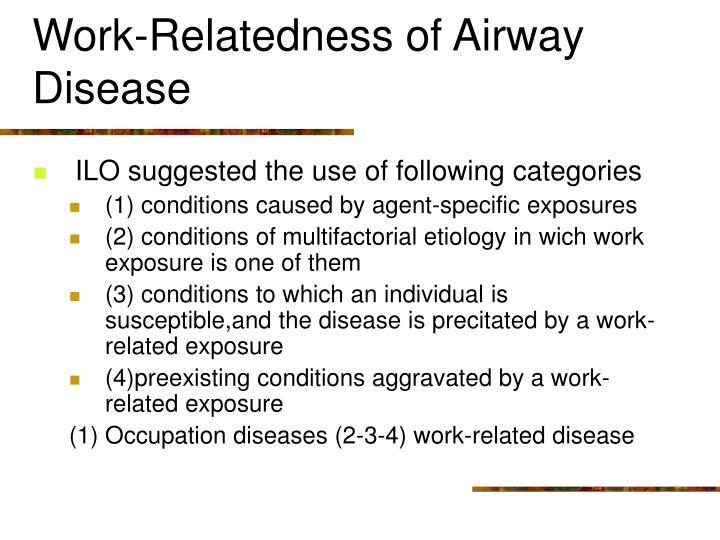 Work-Relatedness of Airway Disease