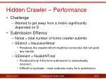 hidden crawler performance