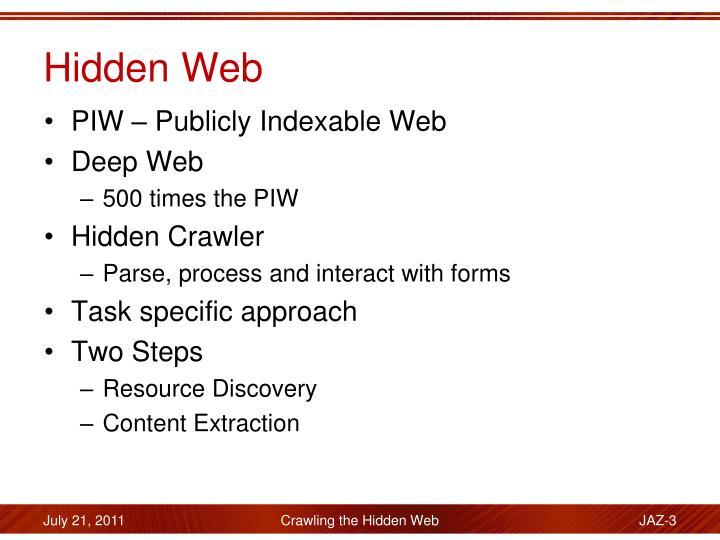 Hidden Web