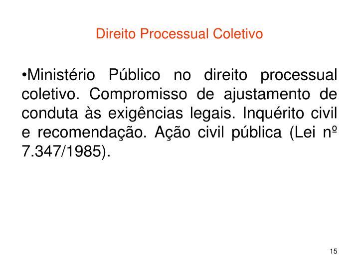 Direito Processual Coletivo