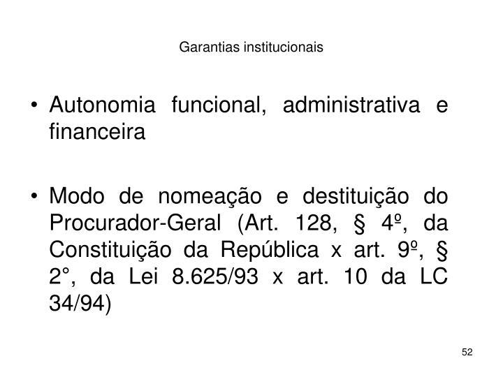 Garantias institucionais