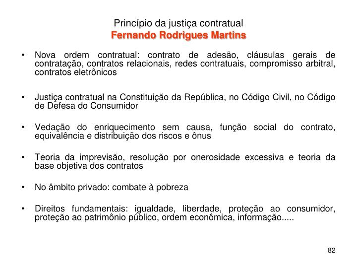 Princípio da justiça contratual