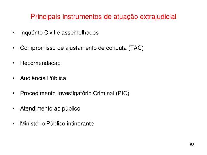 Principais instrumentos de atuação extrajudicial