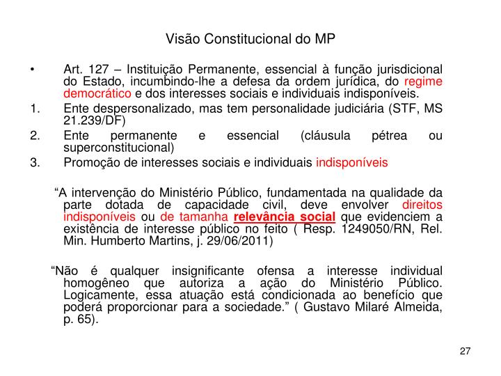 Visão Constitucional do MP