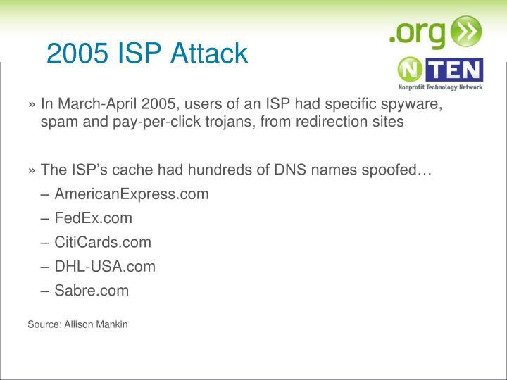 2005 ISP Attack