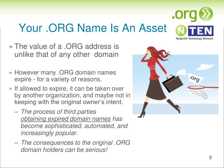 Your .ORG Name Is An Asset