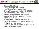 centrally managed programs sag 131