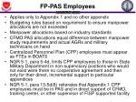 fp pas employees