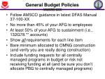 general budget policies