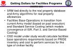 getting dollars for facilities programs