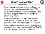 other programs tails