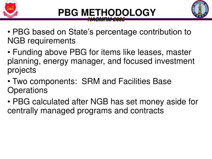 PBG METHODOLOGY