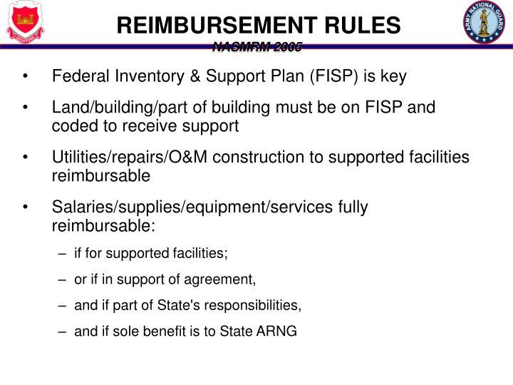 REIMBURSEMENT RULES