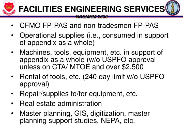FACILITIES ENGINEERING SERVICES