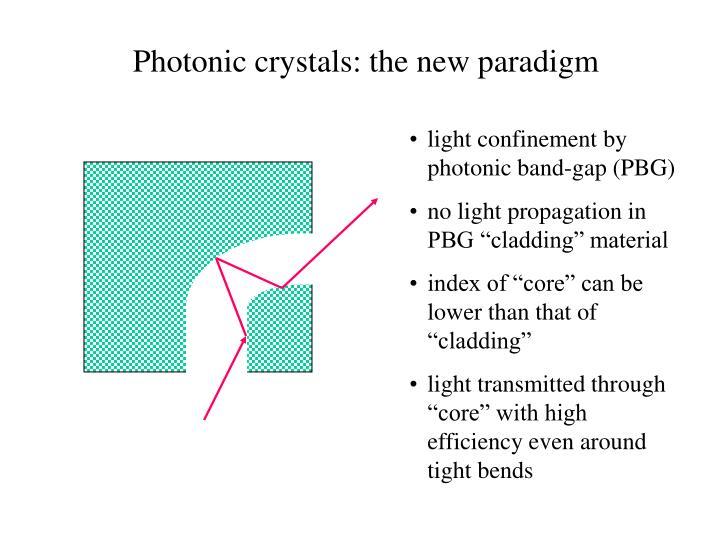 Photonic crystals: the new paradigm