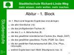 abitur 1 block