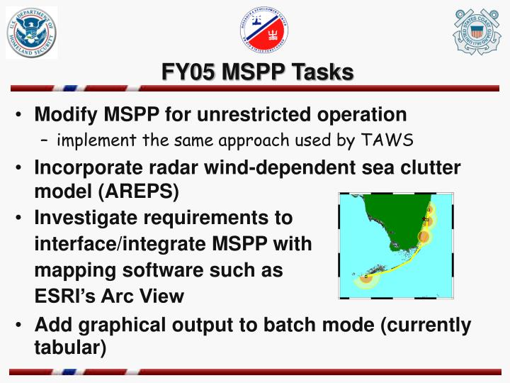 FY05 MSPP Tasks