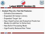 latest mspp version 3