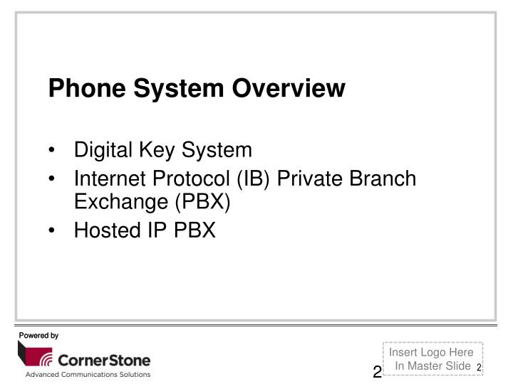 Phone System Overview