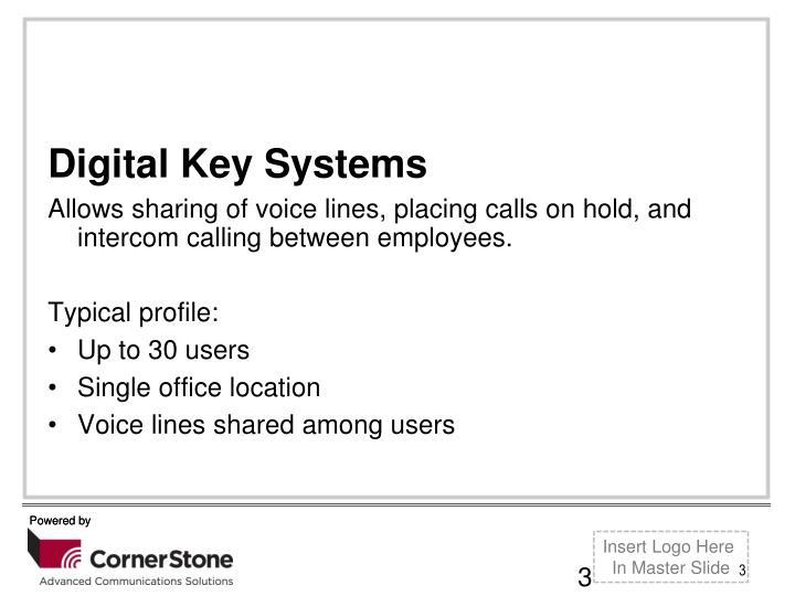 Digital Key Systems