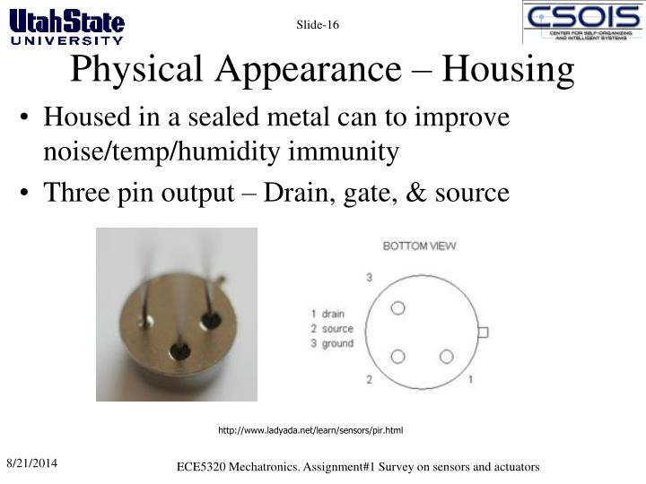 Physical Appearance – Housing