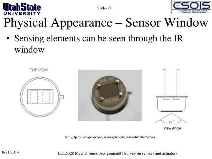 Physical Appearance – Sensor Window