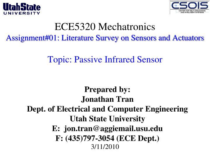ECE5320 Mechatronics