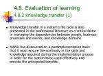4 8 evaluation of learning 4 8 2 knowledge transfer 1