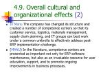 4 9 overall cultural and organizational effects 2