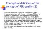 conceptual definition of the concept of pir quality 2
