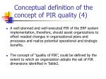 conceptual definition of the concept of pir quality 4