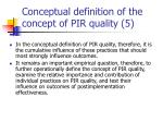 conceptual definition of the concept of pir quality 5