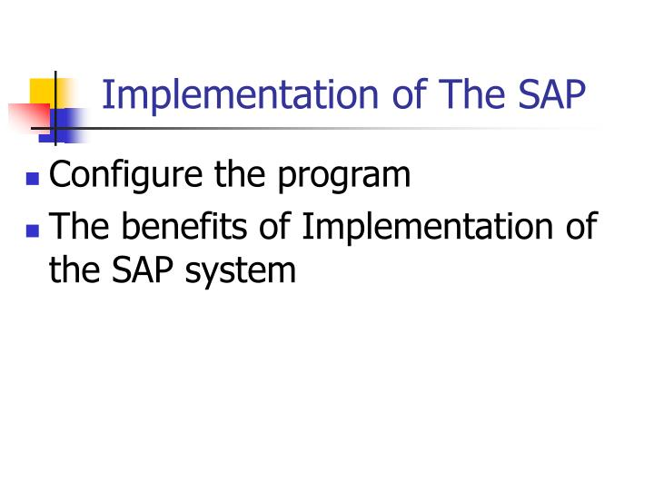 Implementation of The SAP