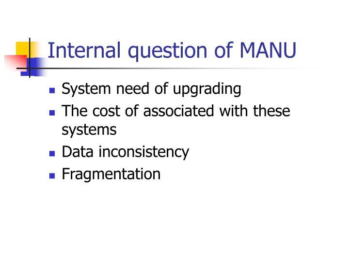 Internal question of MANU