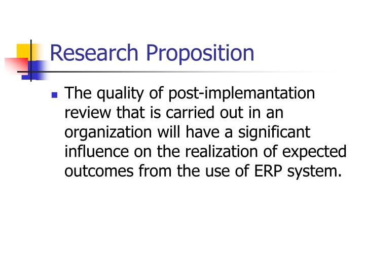 Research Proposition