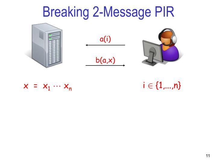 Breaking 2-Message PIR