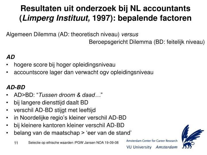 Resultaten uit onderzoek bij NL accountants (