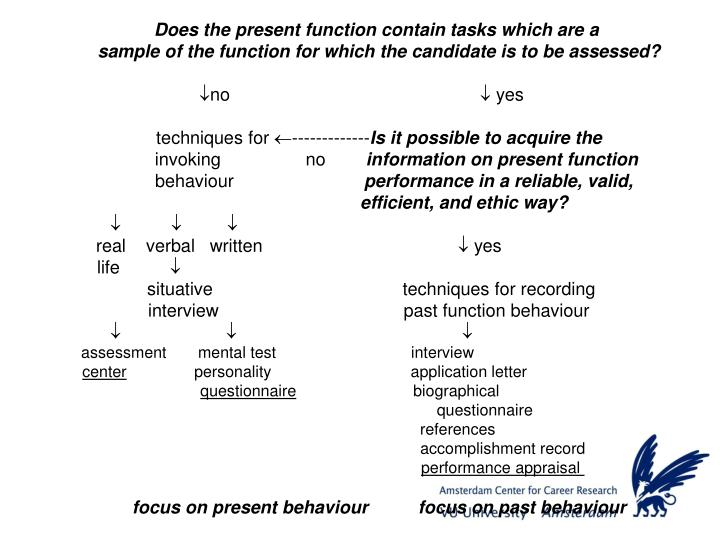 Does the present function contain tasks which are a