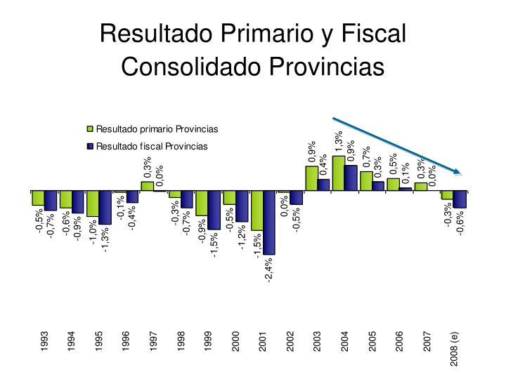 Resultado Primario y Fiscal Consolidado Provincias