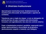 5 diretrizes institucionais
