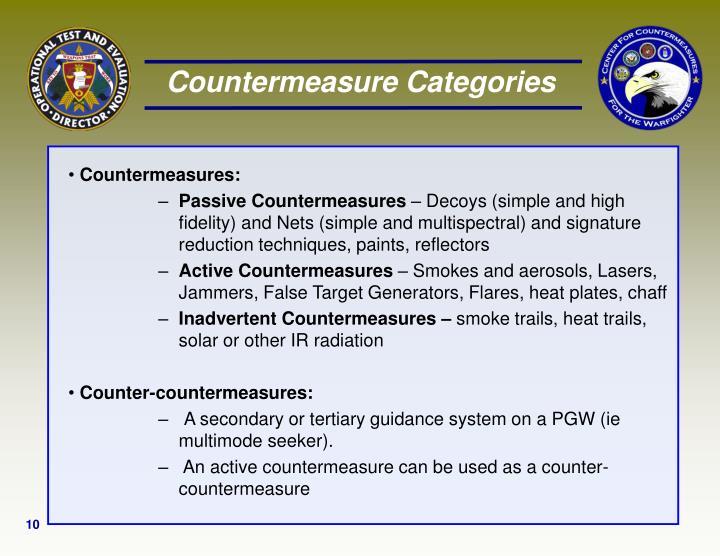 Countermeasure Categories