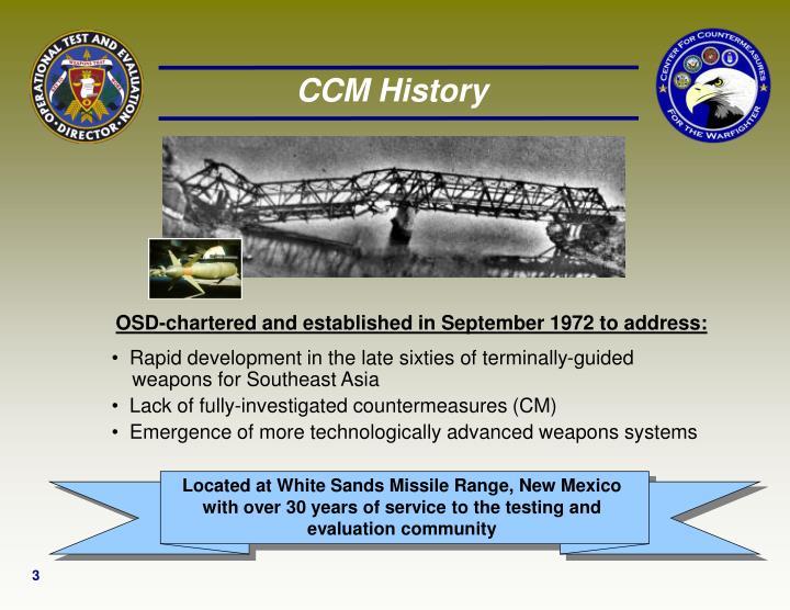 CCM History