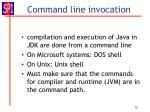 command line invocation