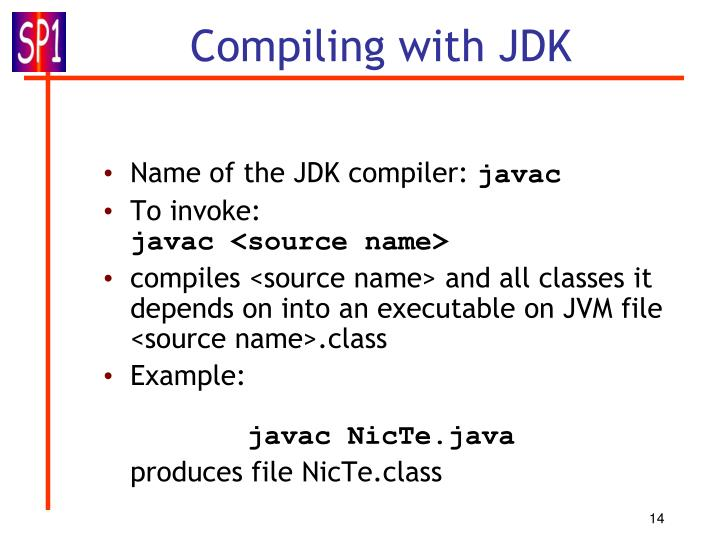 Name of the JDK compiler: