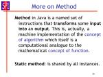 more on method